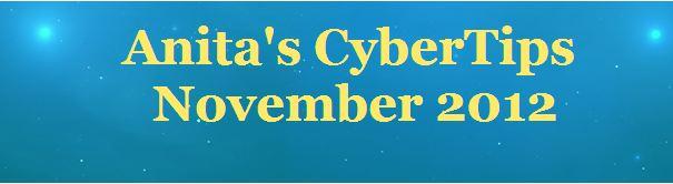 Anita's Cyber Tips - November