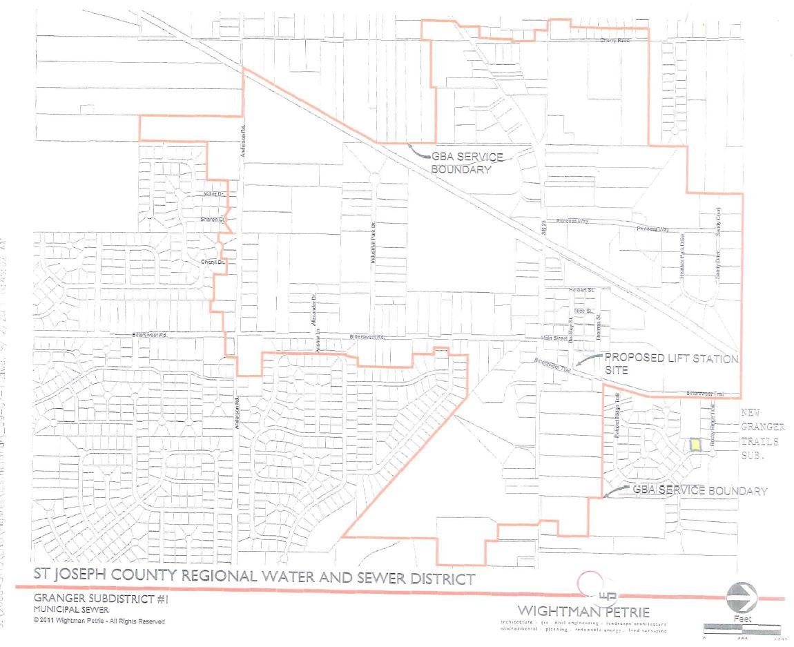 Proposed Granger Sewer Territory